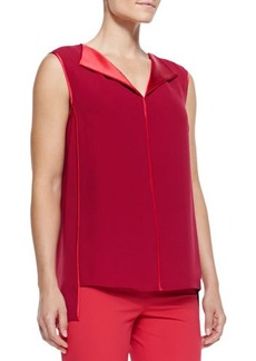 Lafayette 148 New York Fierra Sleeveless Silk Blouse