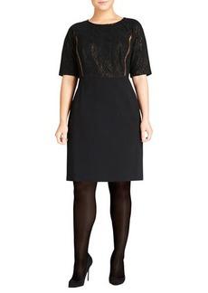 Lafayette 148 New York Filigree Lace Shift Dress