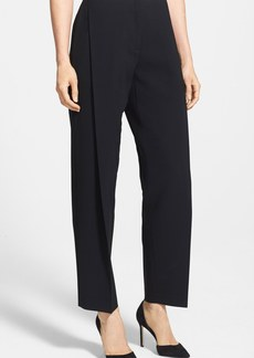 Lafayette 148 New York 'Finesse' Pleat Crepe Ankle Pants