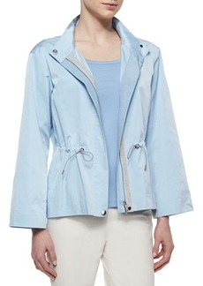 Lafayette 148 New York Finn Couture Cloth Drawstring Topper Jacket
