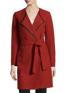 Lafayette 148 New York Fiona Wool Wrap Coat