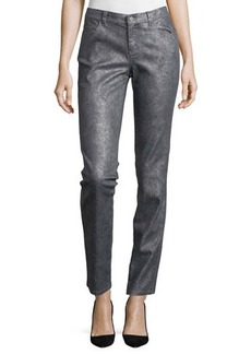 Lafayette 148 New York Five-Pocket Metallic Skinny Jean