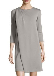 Lafayette 148 New York Flap-Front Wool Dress