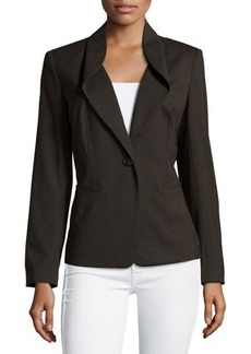 Lafayette 148 New York Flip-Collar One-Button Jacket