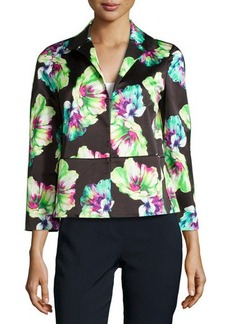 Lafayette 148 New York Floral-Print 3/4-Sleeve Jacket