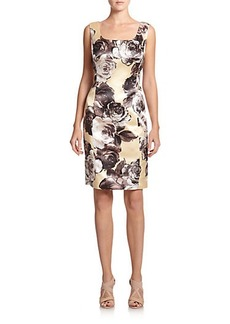 Lafayette 148 New York Floral Scoopneck Dress