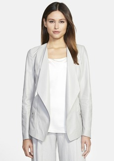 Lafayette 148 New York 'Florencia' Leather & Linen Jacket