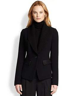 Lafayette 148 New York Flori Knit Contrast Jacket