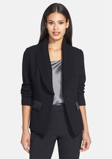 Lafayette 148 New York 'Flori' Knit Shawl Collar Jacket (Regular & Petite)