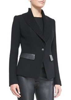 Lafayette 148 New York Flori Wool & Knit Jacket