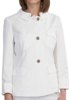 Lafayette 148 New York Francesca Jacket - Metropolitan Stretch Cotton (For Women)