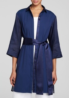 Lafayette 148 New York Freya Belted Long Blouse - Bloomingdale's Exclusive