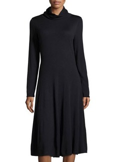 Lafayette 148 New York Funnel-Neck Long-Sleeve A-Line Sweaterdress