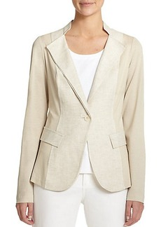 Lafayette 148 New York Gabriel Mixed-Media Blazer