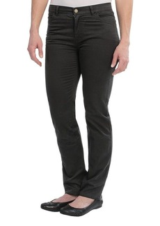 Lafayette 148 New York Garment-Washed Cotton Pants - Curvy Slim Leg (For Women)