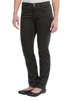 Lafayette 148 New York Garment-Washed Cotton Pants - Curvy Slim Leg (For Women)