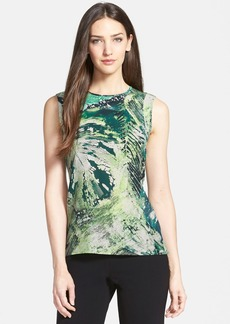 Lafayette 148 New York 'Gayle - Jungle Print' Silk Tank