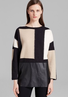 Lafayette 148 New York Geometric Print Sweater