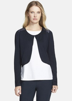 Lafayette 148 New York Georgette Back Silk & Cotton Shrug
