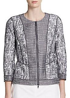 Lafayette 148 New York Geraldine Zip-Front Jacket
