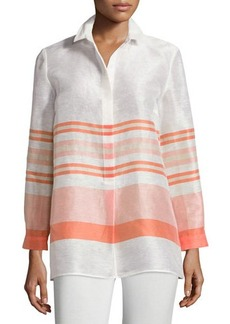 Lafayette 148 New York Gerica Striped Linen-Blend Blouse  Gerica Striped Linen-Blend Blouse