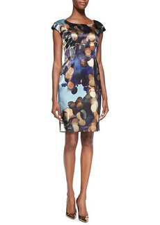 Lafayette 148 New York Gertrude Cap-Sleeve Printed Dress