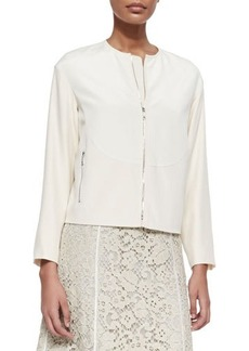 Lafayette 148 New York Gibson Luxe Stretch Crepe Jacket