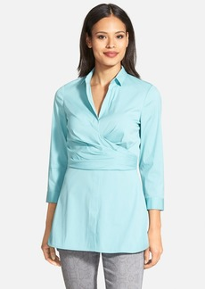 Lafayette 148 New York 'Ginger' Stretch Poplin Shirt