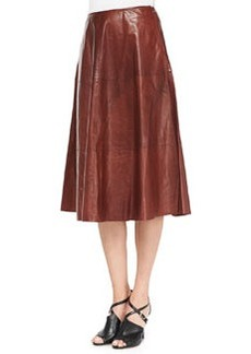 Lafayette 148 New York Glazed Weightless Lambskin Skirt