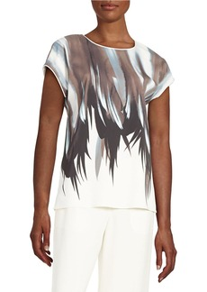 LAFAYETTE 148 NEW YORK Graphic Blouse