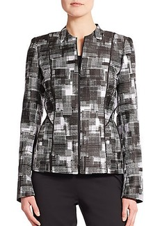 Lafayette 148 New York Graphic-Print Jacket