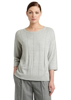 Lafayette 148 New York Grid Stitch Sweater