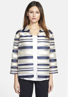 Lafayette 148 New York 'Griffin - Seine Stripe' Organza Jacket
