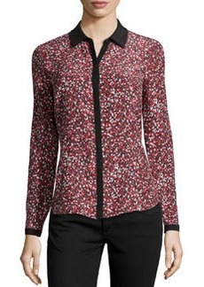 Lafayette 148 New York Haiden Pointillism Dots Blouse, Spark Multi