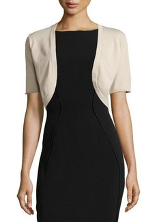Lafayette 148 New York Half-Sleeve Knit Shrug