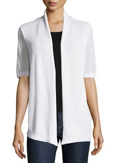 Lafayette 148 New York Half-Sleeve Open-Front Cardigan