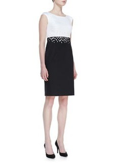 Lafayette 148 New York Harper Two-Tone Sheath Dress