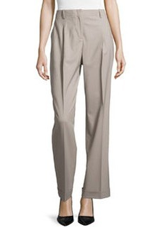 Lafayette 148 New York Harrison High-Waist Cuffed Pants, Driftwood