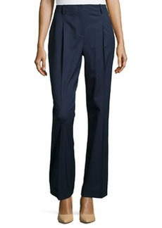 Lafayette 148 New York Harrison High-Waist Cuffed Pants, Navy