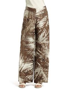 LAFAYETTE 148 NEW YORK Hazy Oasis Linen Wide-Leg Pants