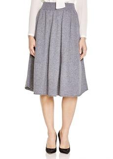 Lafayette 148 New York Heathered Knit Full Skirt