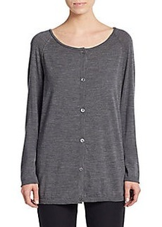 Lafayette 148 New York Heathered Wool Cardigan