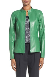 Lafayette 148 New York 'Hera' Tissue Weight Lambskin Leather Jacket