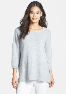 Lafayette 148 New York Herringbone Stitch Cashmere Sweater