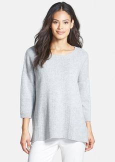 Lafayette 148 New York Herringbone Stitch Cashmere Sweater