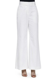 Lafayette 148 New York High-Waist Wide-Leg Pants