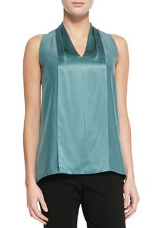 Lafayette 148 New York Hope Silk Sleeveless V-Neck Blouse