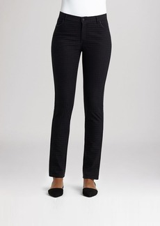 Lafayette 148 New York Houndstooth Jacquard Skinny Jeans in Black Multi