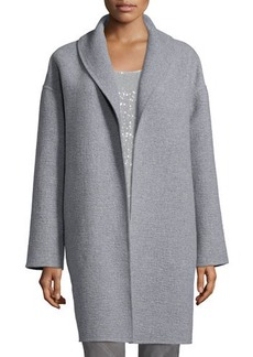 Lafayette 148 New York Hutton Open-Front Cashmere Coat