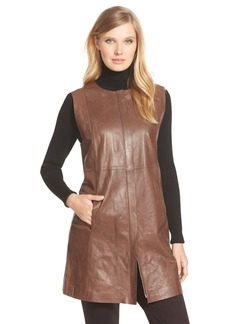 Lafayette 148 New York 'Inez' Lambskin Leather Vest